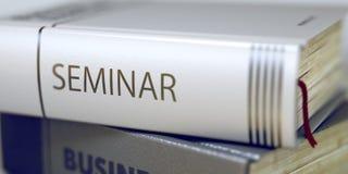 Negócio - título do livro seminário 3d rendem Fotografia de Stock