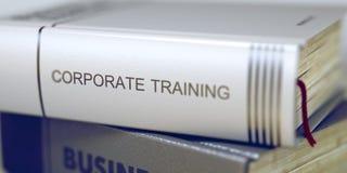 Negócio - título do livro Treinamento incorporado 3d Fotografia de Stock