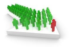 Negócio Team On Arrow Imagens de Stock