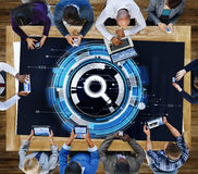 Negócio Team Connection Technology Networking Concept fotografia de stock