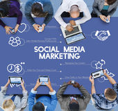 Negócio Team Connection Technology Networking Concept fotografia de stock royalty free