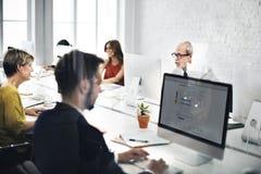 Negócio Team Contact nós conceito do Internet do serviço de informações Imagem de Stock Royalty Free