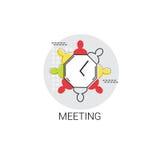 Negócio Team Meeting Brainstorm Icon ilustração do vetor
