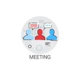 Negócio Team Meeting Brainstorm Icon ilustração royalty free
