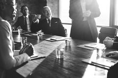 Negócio Team Meeting Brainstorming Togetherness Concept fotografia de stock royalty free