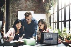 Negócio Team Meeting Brainstorming Working Concept imagens de stock royalty free