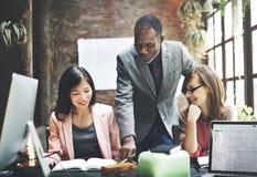 Negócio Team Meeting Brainstorming Working Concept imagem de stock
