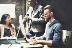 Negócio Team Meeting Brainstorming Working Concept foto de stock