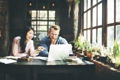Negócio Team Meeting Brainstorming Working Concept fotografia de stock royalty free