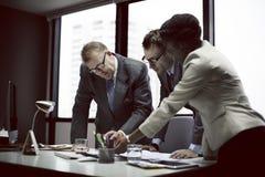 Negócio Team Meeting Discussion Connection Concept Imagens de Stock
