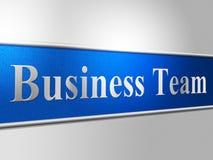Negócio Team Shows Unit Teams And incorporado ilustração royalty free