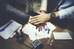 Negócio Team Teamwork Partnership Together Concept fotografia de stock