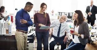 Negócio Team Working Office Worker Concept fotografia de stock royalty free