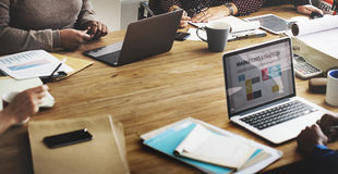 Negócio Team Working Office Worker Concept imagem de stock royalty free