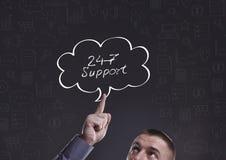 Negócio, tecnologia, Internet e mercado Homem de negócios novo Imagens de Stock