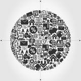 Negócio uma esfera Imagem de Stock Royalty Free