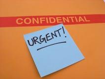 Negócio urgente e confidencial fotos de stock royalty free