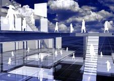 Negócio virtual 01 ilustração royalty free