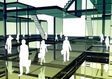 Negócio virtual 02 ilustração do vetor