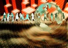 Negócio virtual 06 ilustração royalty free