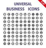 Negócios Ícones universais Vetor liso Imagem de Stock