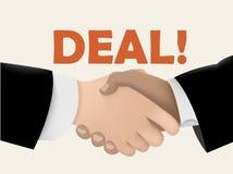 Negócios de negócio agitando as mãos ilustração do vetor