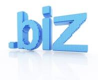 Negócios do ponto do símbolo do domínio do pixel Fotografia de Stock Royalty Free