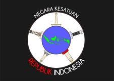 Negara kesatuan Ινδονησία Στοκ εικόνα με δικαίωμα ελεύθερης χρήσης