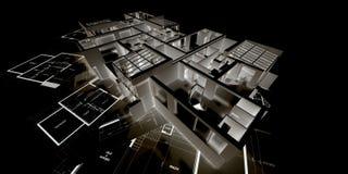 Negatief architectuurmodel   Royalty-vrije Stock Fotografie