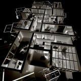 Negatief architectuurmodel   Royalty-vrije Stock Foto's
