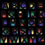 Negatief Ruimte Kleurrijk Typografieontwerp royalty-vrije illustratie