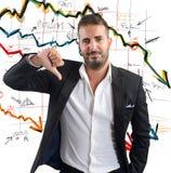 Negatieve bedrijfresultaten Stock Foto's