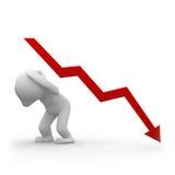 Negatieve grafiek Royalty-vrije Stock Foto's