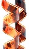 Negativ film för gammal färg Arkivbild