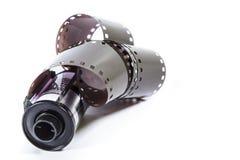 negativ film för mm 35 - rulle av kamerafilmen Fotografering för Bildbyråer