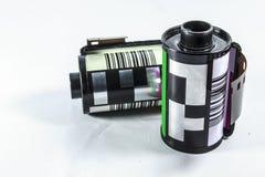 negativ film för mm 35 - rulle av kamerafilmen Royaltyfria Bilder