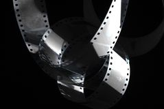 Negativ film i mörkret 35mm film royaltyfria foton