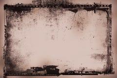 Negativa de película de Grunge ilustración del vector