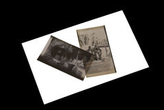 Negativas de la foto/viejo Fotos de archivo