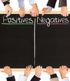 Negativas de los positivos fotos de archivo