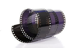 Negative. This image shows a negative, coiled Royalty Free Stock Image