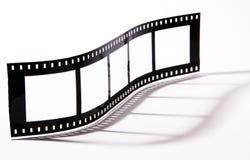 Negative. 35 mm negative film on isolated white Royalty Free Stock Image