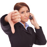 Negative answer on the phone Royalty Free Stock Images