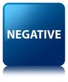 Negative blue square button Stock Photography