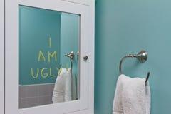 Negative body image royalty free stock photo