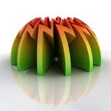Negative circle zigzag hill composition Stock Photo