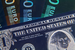 Negative currencies Royalty Free Stock Photos