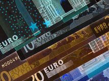 Negative currency Stock Image