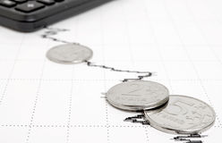 Negative economic forecasts. Royalty Free Stock Photos