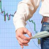 Negative economic forecasts. Stock Photography
